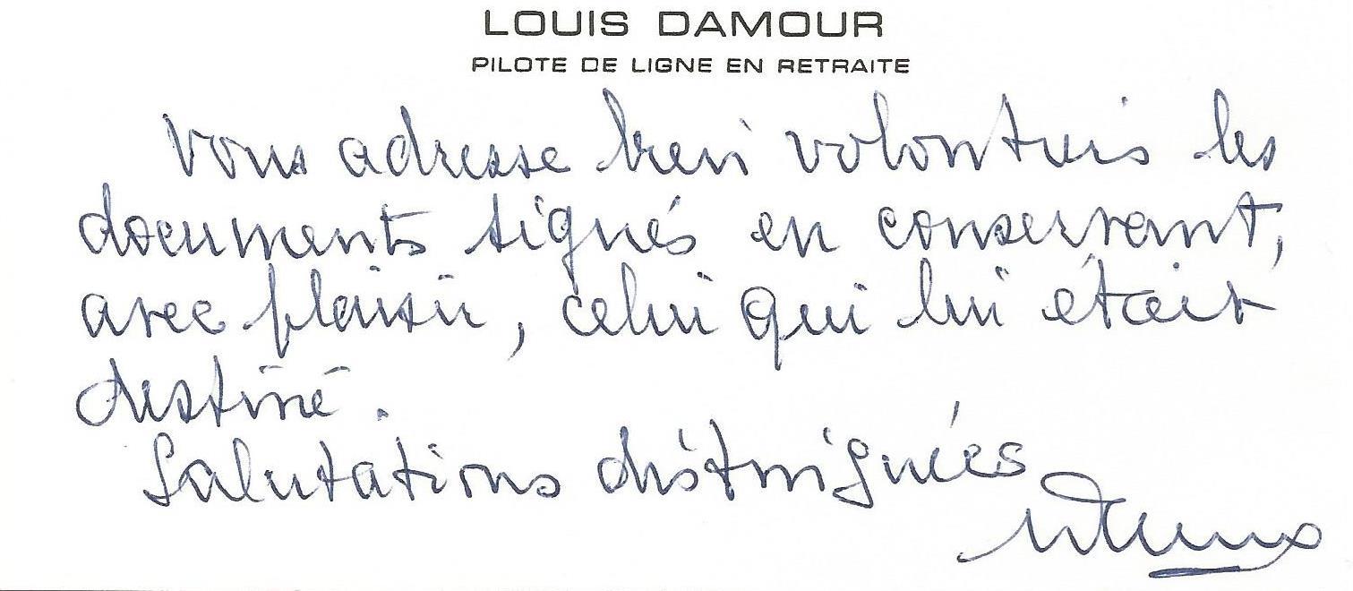 cv damour